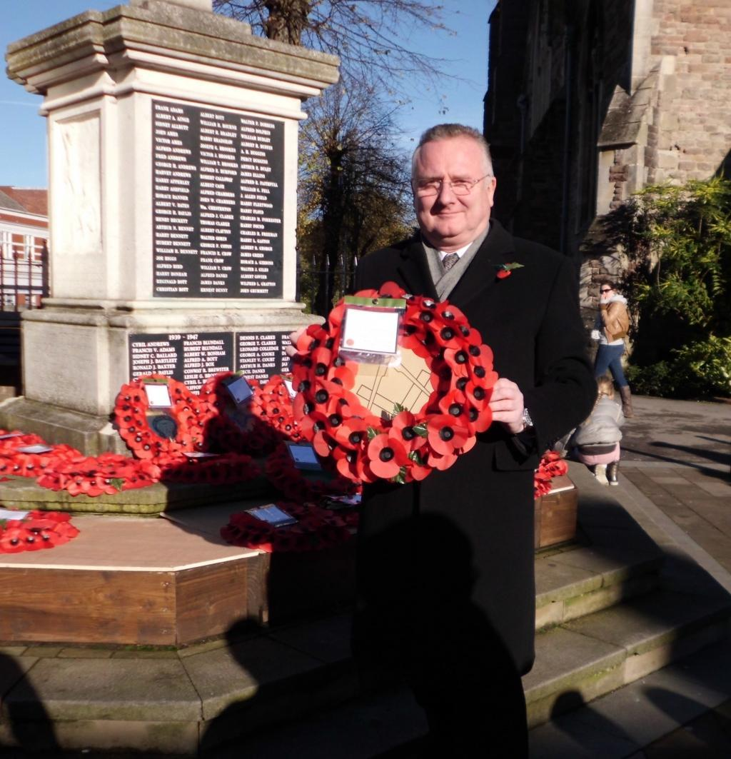 Armistace Day Wreath Laying 2013